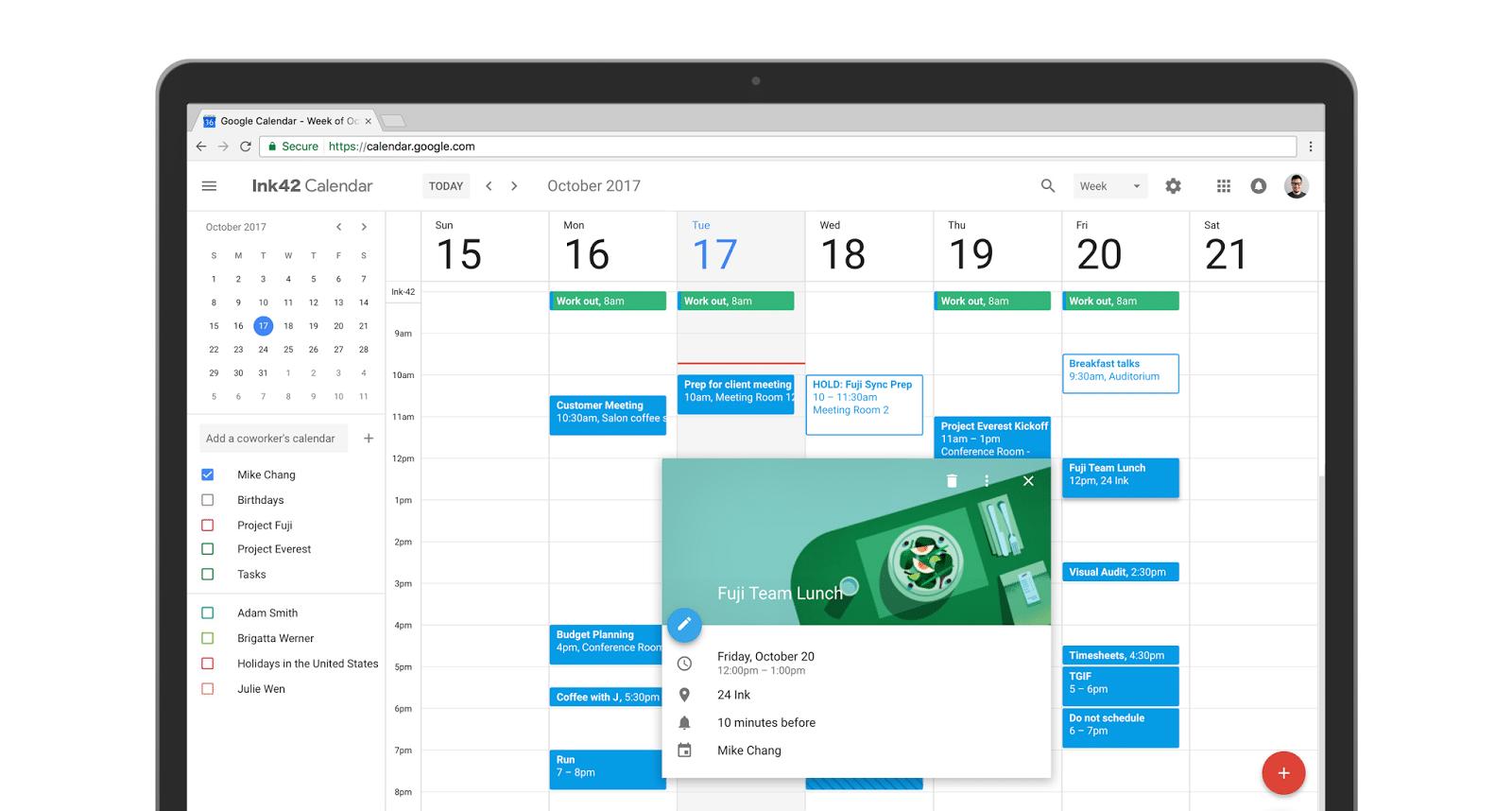 G Suite apresenta nova interface para o Google Agenda